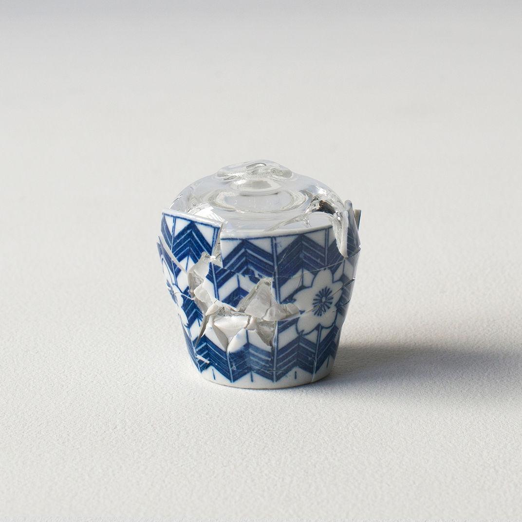 Glass Wearing Ceramic Vase #1 by Norihiko Terayama