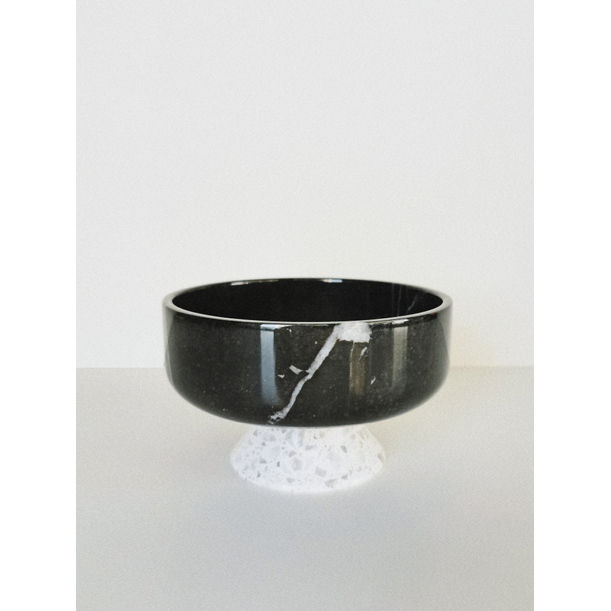 Terrazzo Footed Marble Bowl by KONSTANTIN
