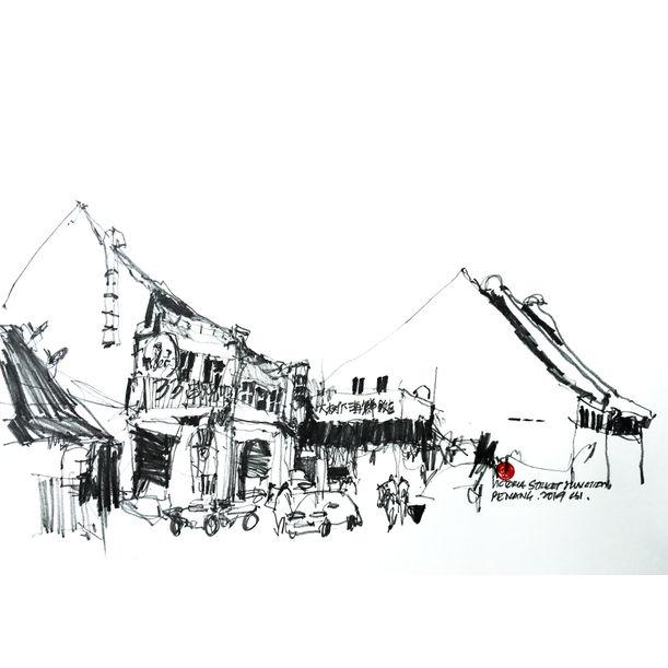 Penang Heritage Plein air painting_Victoria street by Shih Ing Chan