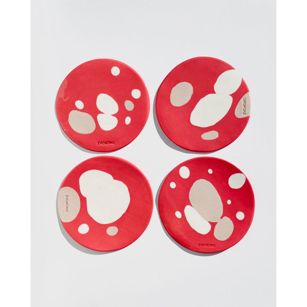 Valentine Plates Set (x4) 01 by EVG.WORKS