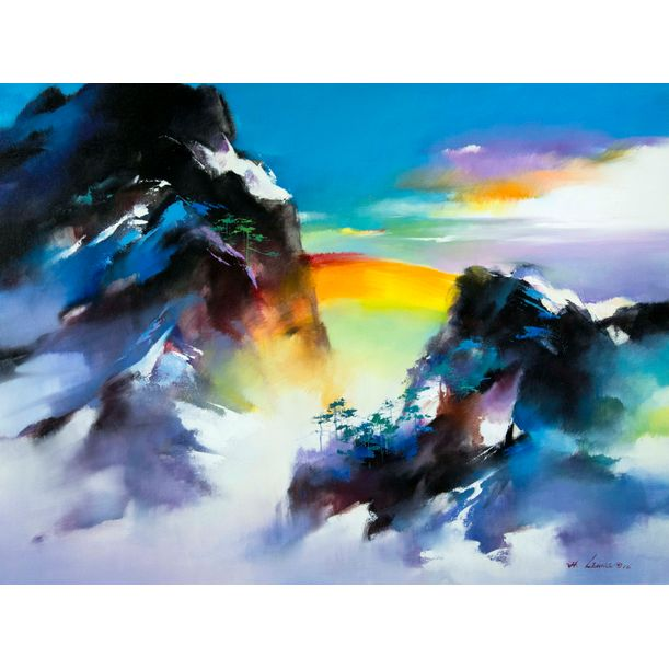 Rainbow Mountain by Hong Leung