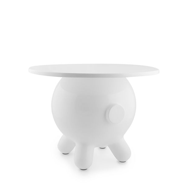 Pogo White  Extra Large Side Table by Joel Escalona
