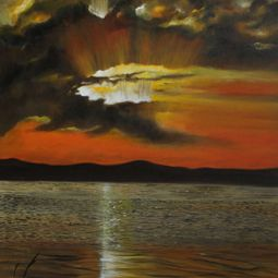 Orange Evening by Shveta Saxena