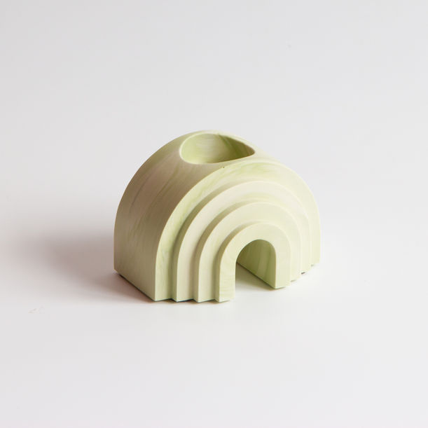 Scala Collection Arch Tealight + Candle Holder - Olive Green by Extra&Ordinary Design