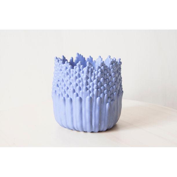 Blooming floral ascending flowerpot M - lavender blue by Cecile Bichon