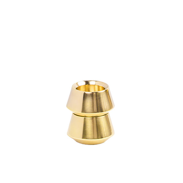Diya - Cast Brass stackable candleholders by Tiipoi
