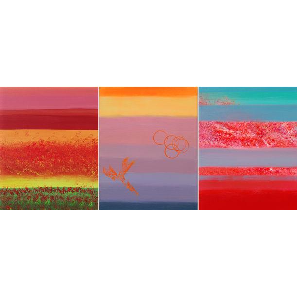 Calm, triptych by Davide De Palma