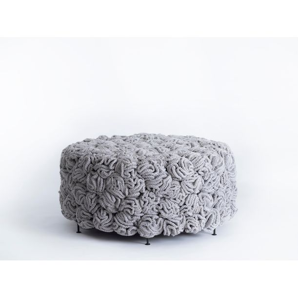 Handmade Crochet Elements Pouf by Iota
