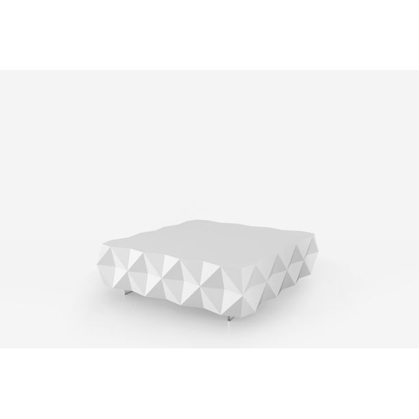 Geometric White Coffee Table from Rocky Collection by Joel Escalona
