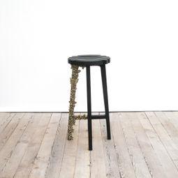 Spring Stool (Brass Leg) by Gabriel Lichauco