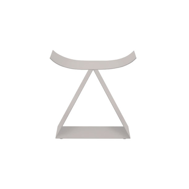 Picto Furniture-Concave Stool/Warm Gray by nendo for ZENS
