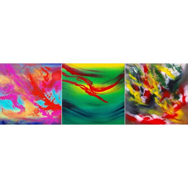 Gestural, Triptych by Davide De Palma