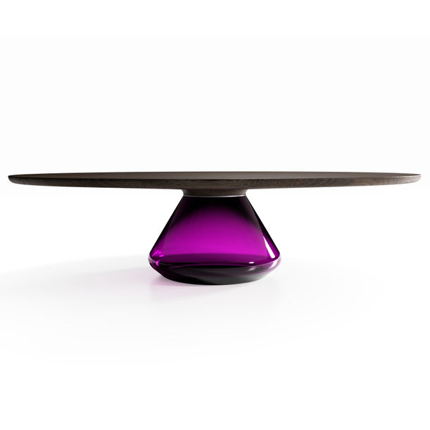 """Charoite Eclipse"" Contemporary Coffee Table by Grzegorz Majka"
