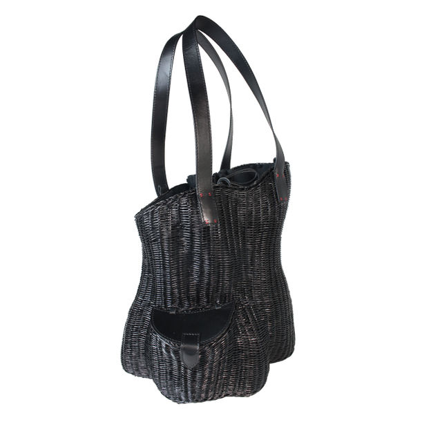 Franck Tall Tote / Wicker by Rita Nazareno