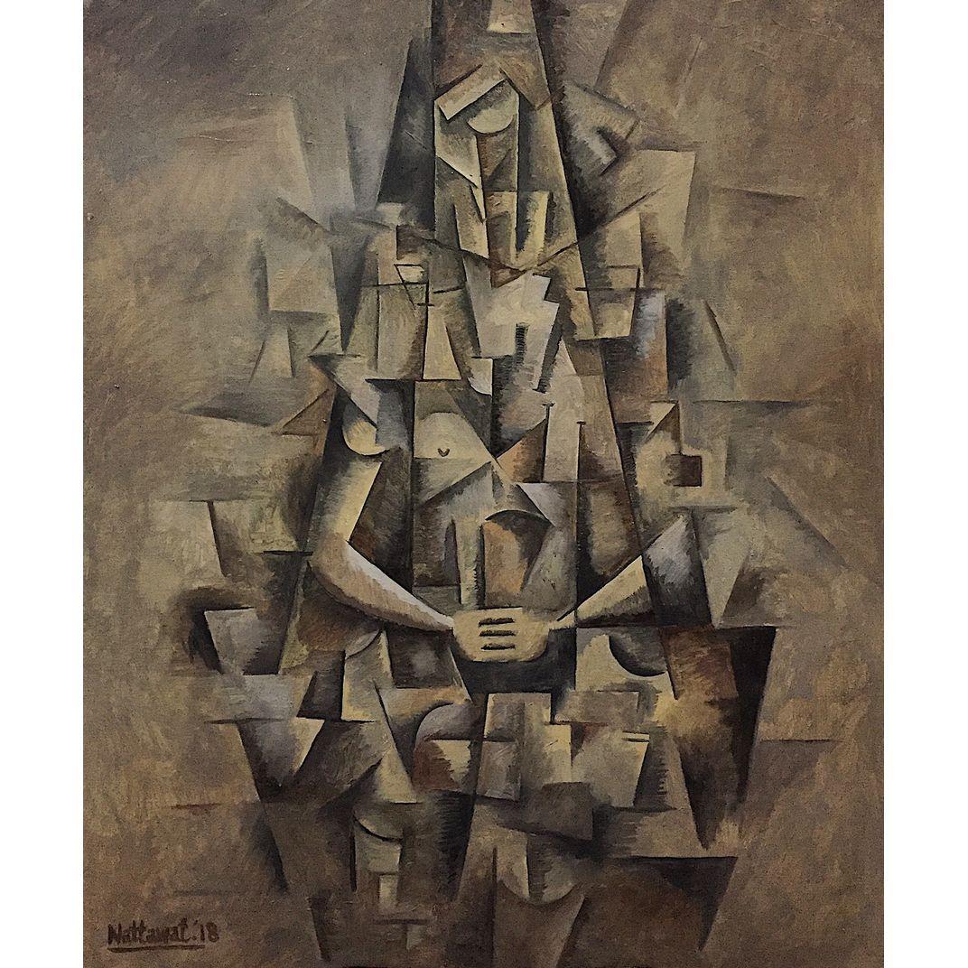 The Meditation (Analytical Cubism) by Nattawat Pansaing
