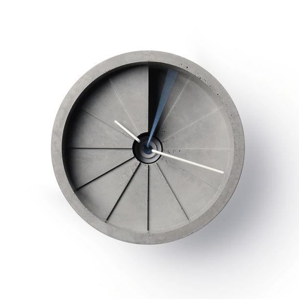 4th Dimension Wall Clock (Blue/ Grey) by 22 Design Studio