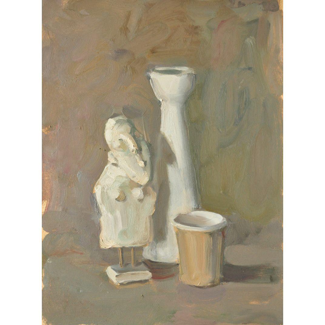Still life with a statuette of papier mache by Yaroslava Tichshenko