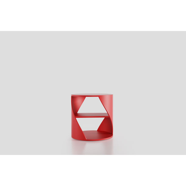 MYDNA Side Table: Red Decorative Nightstand by Joel Escalona