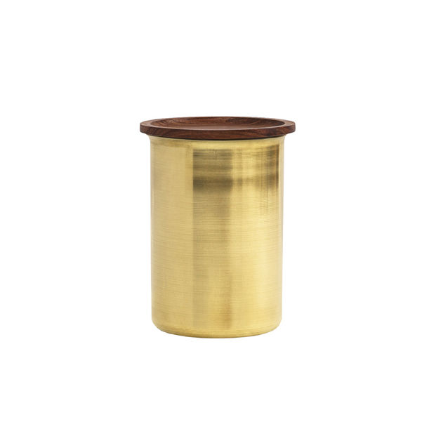 Ayasa Brass Storage Jar – 0.75L by Tiipoi