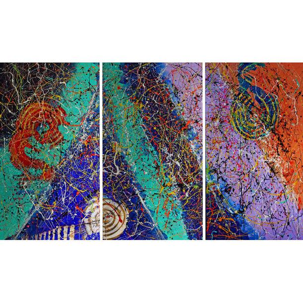 """Bright"" Triptych by Caroline Vis"