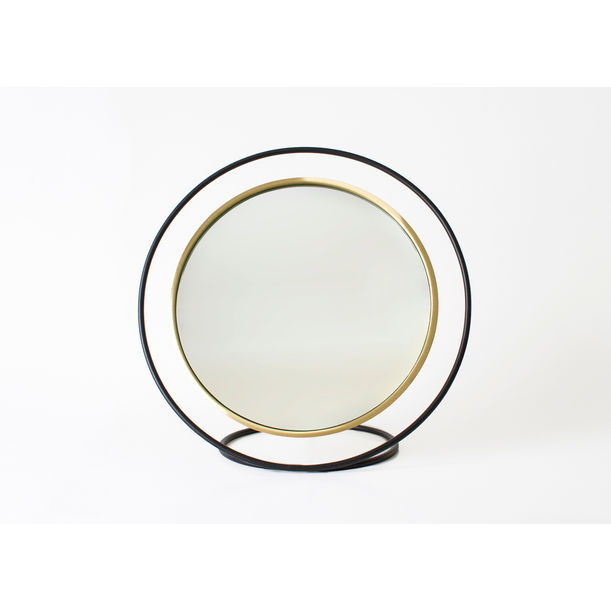 Hollow Table Mirror / Brass by Kitbox Design
