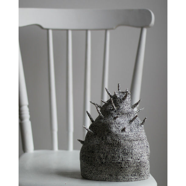 Porcelain Sculpture With Spikes #2 by Kira Ni