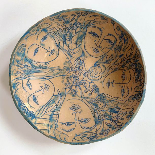 La Femme in Blue by Heidi Lanino