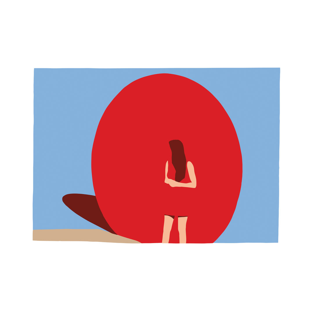 "Red Ball, From the Series ""Why This Restlessness?"" by Casey Waterman"
