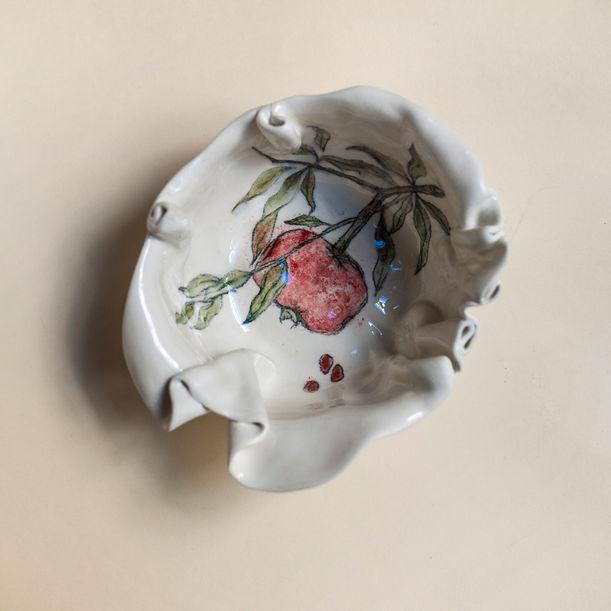 Pomegranate Primavera Bowl by Maryia Virshych