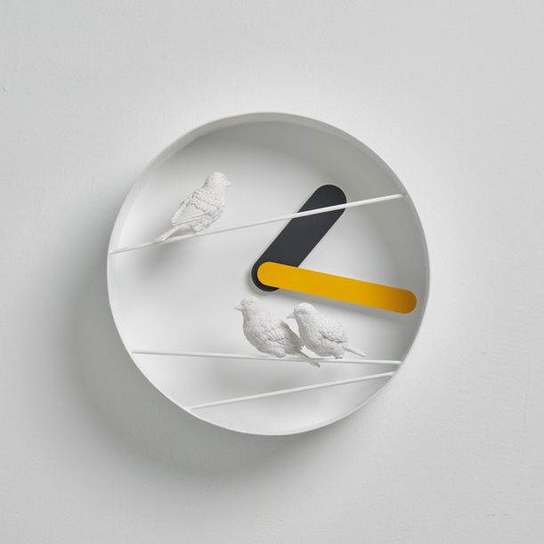 Sparrow x Round CLOCK - Yellow by haoshi design