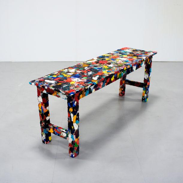 "OilPainting Bench  ""Visualization of human ""hands"" - paint/draw -"" by Kairo Kusamoto"