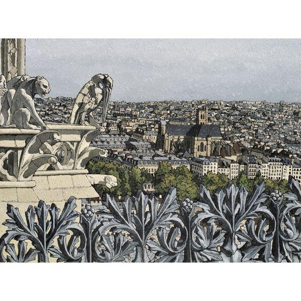 1905 - Eglise St Gervais depuis Notre-Dame de Paris by Olivier Lavorel