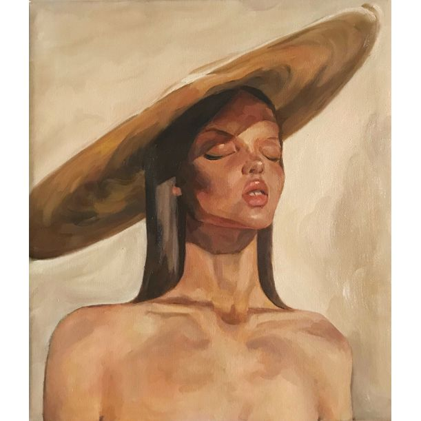Girl with Straw Hat by Yi Zhou. Zoe