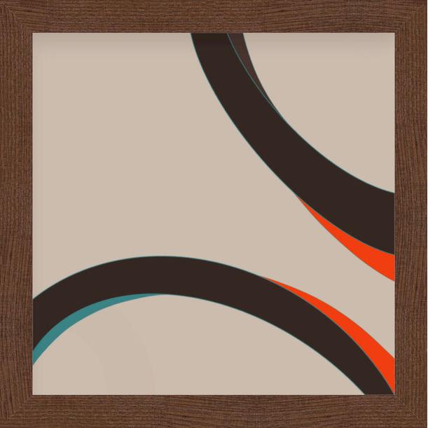 """His eyes"" - abstract digital print, warm earth tones by Pletneva"