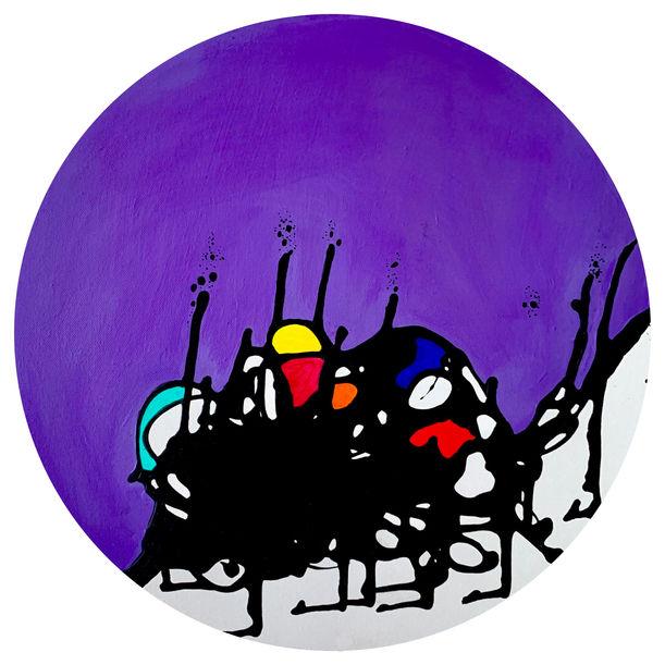 Harlequin - Fall in Circle - Purple by Aarti Bartake