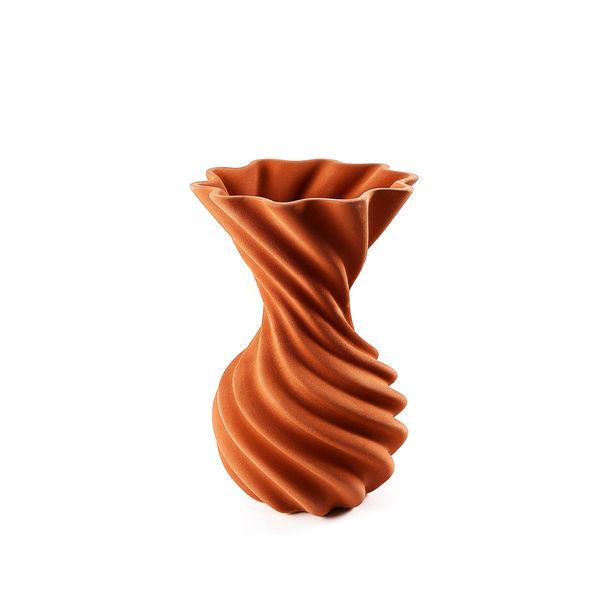 Miss Jolie: Decorative Ceramic Vase with Clay Glaze by Joel Escalona