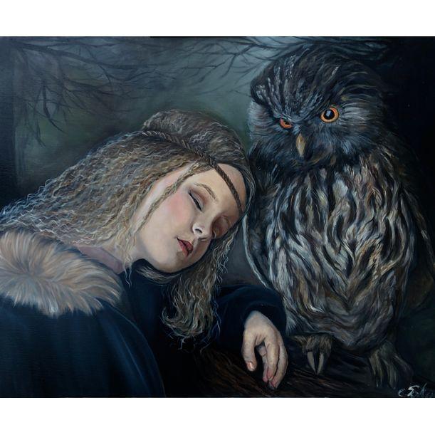 Girl and the Owl by Kinga Sokol