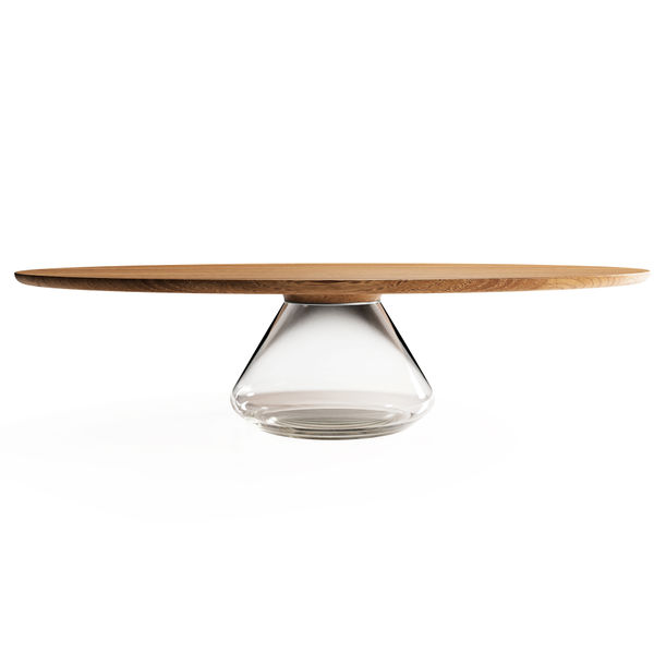 """Clear Eclipse"" Contemporary Coffee Table by Grzegorz Majka"