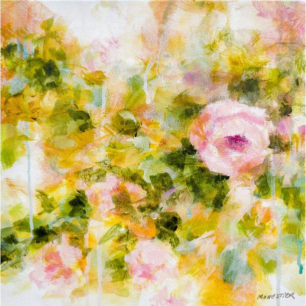 Douces roses by Fabienne Monestier
