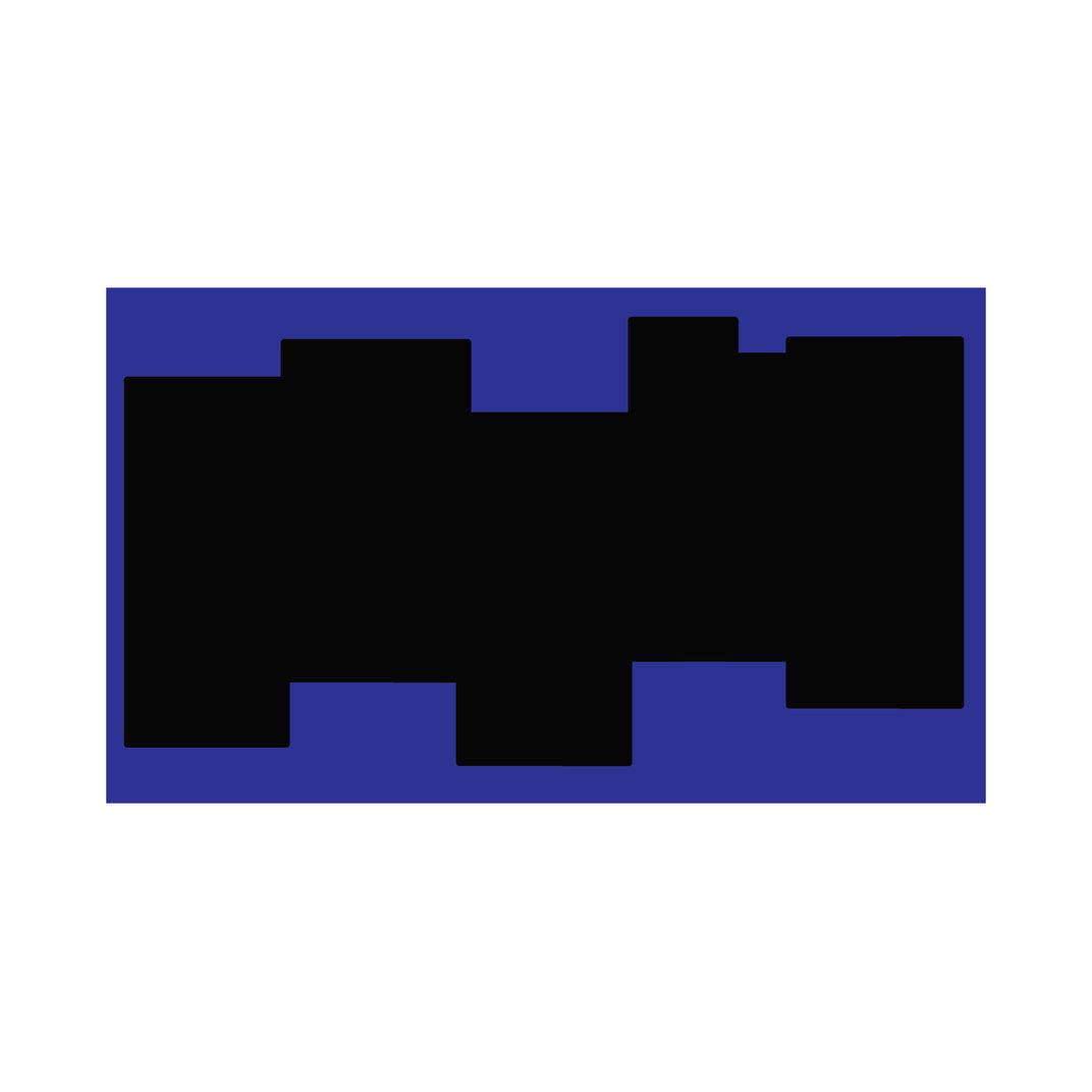 Blockprint (periwinkle) by Dennis Towers