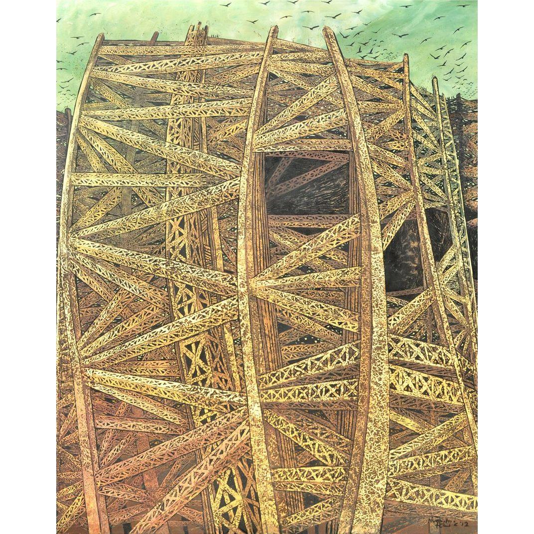 Landscape#2 (Skull Illusion) by Nugroho Heri Cahyono
