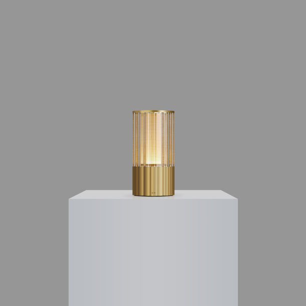 Voltra Totem - Reeded  - Natural Brass by Voltra