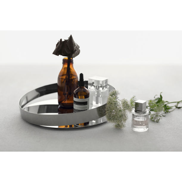Orbis tray Orbis tray -Silver-20cm (M) by Beyond Object