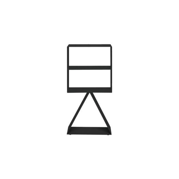 Picto Furniture-Rectangle Shelf/Matte Black by nendo for ZENS