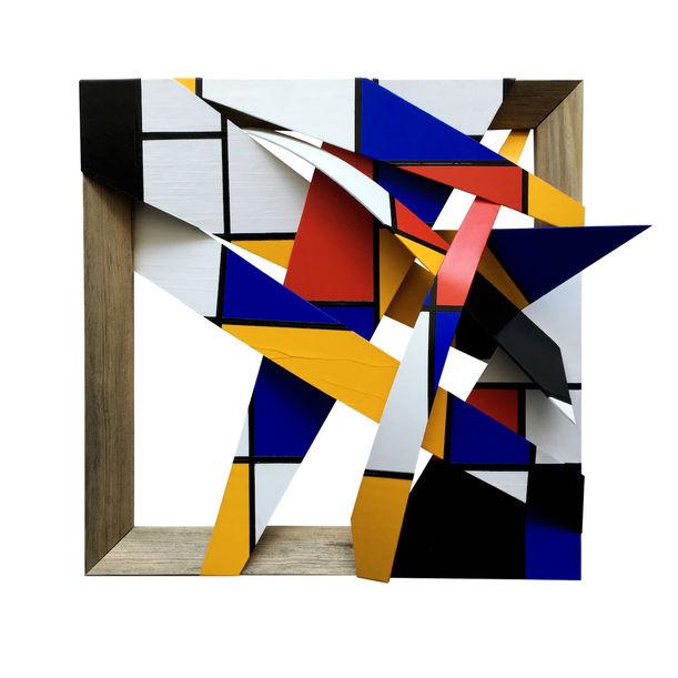 Reconstructing Mondrian: Split Mondrian (No:1) by Otto Batuhan Turker