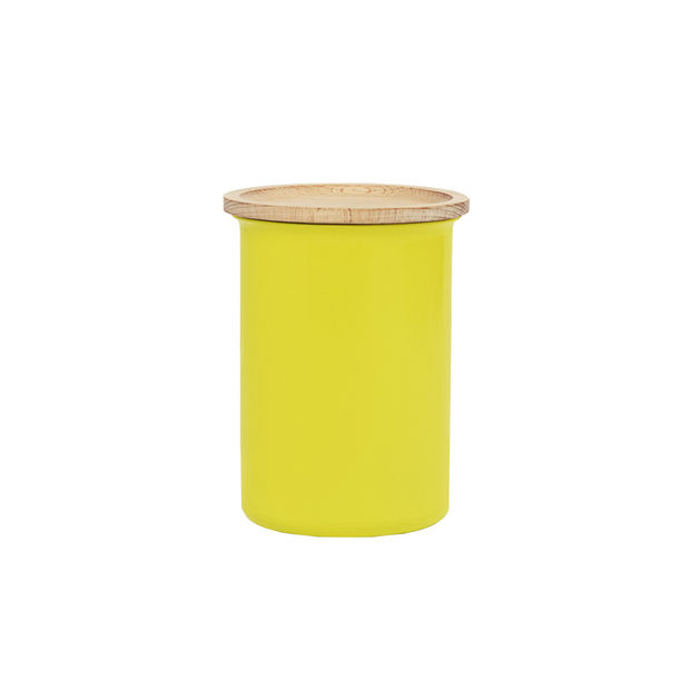 Ayasa Yellow Storage Jar, with wooden lid - 0.75L by Tiipoi