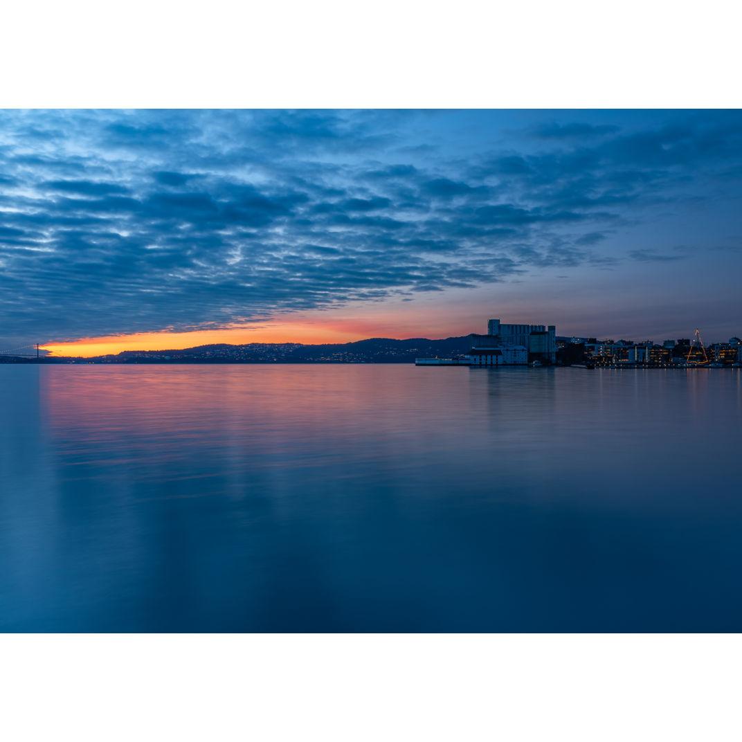 Autumn twilight from Sandviken bay by Romulo TIJERO