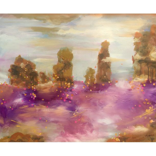Purple flowers mountain by Anh Xuan Nguyen