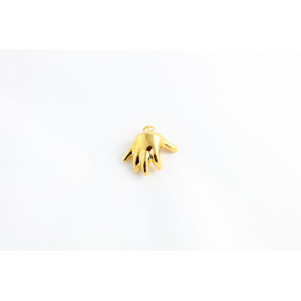 Gold Baby Hand Pendant by Mari JJ Design