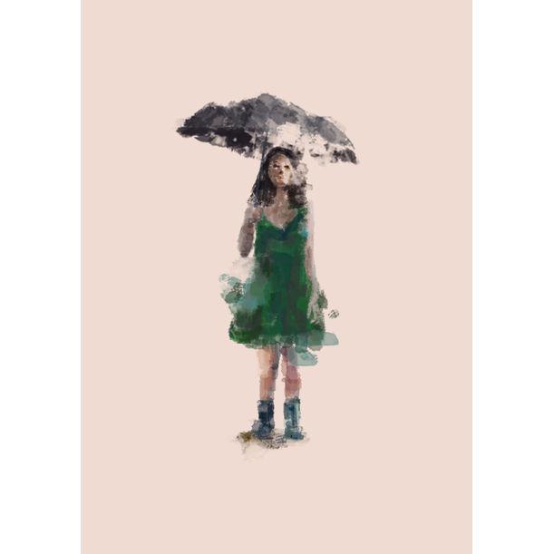 umbrella girl by Elka Alva Chandra